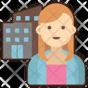 Female Employee Icon