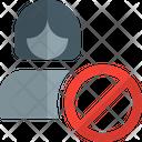 Female Employee Banned No Female Employee No Employee Icon