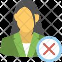 Female Employee Terminated Icon