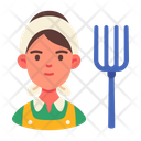 Female Farmer Icon