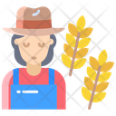 Awoman Farmer Female Farmer Icon