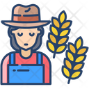 Awoman Farmer Icon