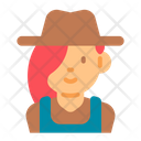 Female Farmer Farmer Woman Icon