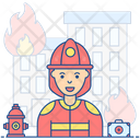 Female Firefighter Icon