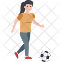 Female Player Football Player Outdoor Game Icon