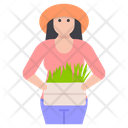 Female Gardener Horticulturist Farmer Woman Icon