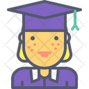 Female Graduate Graduate Female Icon