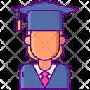 Female Student Graduation Hat Icon
