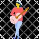 Female Guitarist Icon