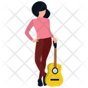 Female Guitarist Icon