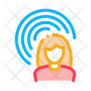 Female Hearing Sense Icon