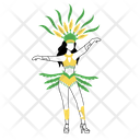 Female In Carnival Clothing Body Adornment Icon