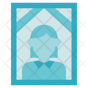 Funeral Female In Memorial Photo Icon