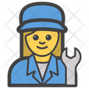 Female Mechanic Icon