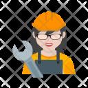 Mechanic Female Avatar Icon