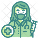 Female Medical Doctor Mask Profession Occupation Icon