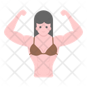 Woman Fitness Female Muscles Female Bodybuilder Icon