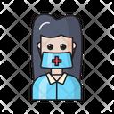 Female Doctor Nurse Icon