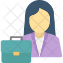 Female Office Worker Icon