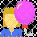Female Party Party Ballon Icon