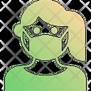 Female Patient Patient Mask Icon