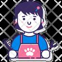 Female Pet Groomer Icon