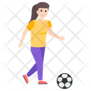 Female Player Football Player Soccer Player Icon