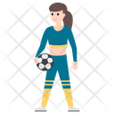Female Player Sportswoman Soccer Player Icon