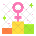 Female Podium Podium Chart Icon