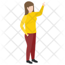 Female Pointing Icon