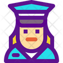 Cop Female Icon
