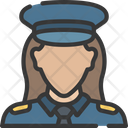 Female police officer Icon