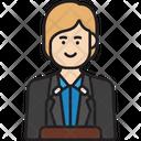 Female Politician Icon
