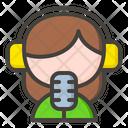 Female Radio Speaker Icon