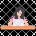 Female Receptionist Avatar Icon