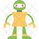 Female Robot Icon