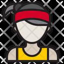 Female Runner Icon