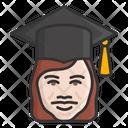 Female Scholar Graduate Student Icon