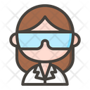 Female Scientist Icon