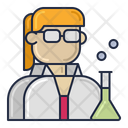Female Scientist Woman Sciemtist Scientist Icon