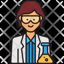 Female Scientist Woman Scientist Scientist Icon