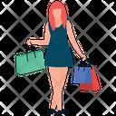 Female Shopper Icon