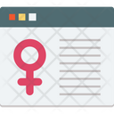 Female Sign Gender Sign Web Icon