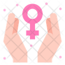 Female Sign Care Hands Icon