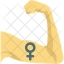 Female Sign On Biceps Strong Female Feminism Icon
