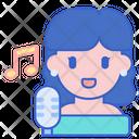 Female Singer Singer Sing Icon