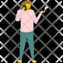 Female Smoker Smoking Icon