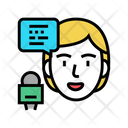 Female Speaker Speaker Conference Icon