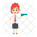 Female Girl Employee Icon