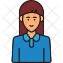 Female Staff Female Employee Office Girl Icon
